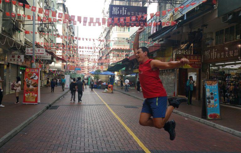 NIGHT TEMPLE MARKET HONG KONG