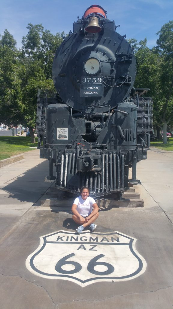 LOCOMOTORA SANTA FE KINGMAN ROUTE 66 COSTA OESTE USA